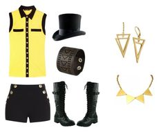 """Every-DAy Bill Cipher Cosplay!"" by jessgray-jg on Polyvore featuring Balmain, Boutique Moschino, Zara Taylor and Nemesis"