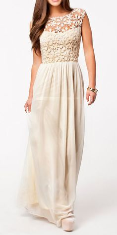 Backless Hollow Apricot Maxi Dress love this for the bridesmaids in red