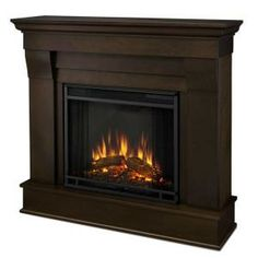 Real Flame Chateau 41 in. Electric Fireplace in Dark Walnut-5910E-DW at The Home Depot