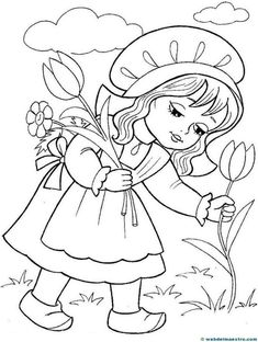 Caperucita Roja-4 Disney Coloring Pages, Animal Coloring Pages, Colouring Pages, Adult Coloring Pages, Coloring Sheets, Coloring Books, Art Drawings For Kids, Disney Drawings, Drawing For Kids