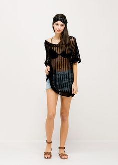 Fishnet Poncho - Black ...................... #lookbym #looks #black #poncho #coverup #tops #clothing #swimwear #beachwear #shortsleeves #womensfashion #womensclothing #collections #sheer #seethrough #accessories #womensaccessories #ootd #trends #trendy #scarves #musthave