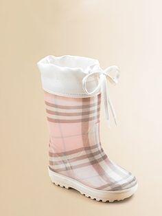 Burberry rain boots. Are you kidding me?! LOVE