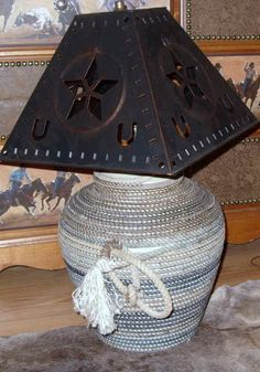 Western Rope Lamp  large by USpur on Etsy, $125.00