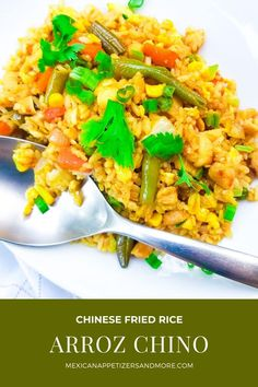Enjoy a delicious bowl of restaurant style Arroz Chino (Chinese Fried Rice) right from the comfort of your home! Easy to make at home and simply just delicious! #arrozchino #chinesefriedrice #friedrice #stirfryrice #asianricediches #chineserice
