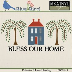 DIGITAL DOWNLOAD ... Home Vector in AI, EPS, GSD, & SVG formats @ My Vinyl Designer #myvinyldesigner #bluebird