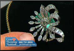 Estate diamond pin with more than 10 carats of diamonds.