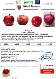 Jabłko z twoim logo | Woda Reklamowa