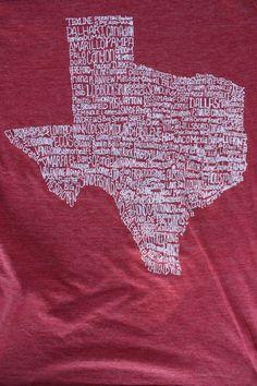 The Texas Cowgirl - Texas Hometown Tee Shirt, $28.00 (http://www.thetexascowgirl.com/texas-hometown-tee-shirt/)