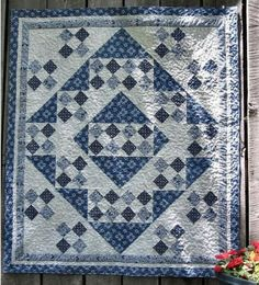 blue and white quilt.  love it