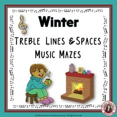 WINTER TREBLE LINES and SPACES MUSIC MAZES from Music Teacher Resources. This file contains 12 WINTER themed music mazes based on the pitch of the treble staff. For each question box in the maze, there are two answer boxes. If the correct answer is selected, the maze leads to the next question box, but if the incorrect answer is chosen, the maze leads to a dead end. No prep, just print and go! ♫ ♫ #musiceducation #mtr