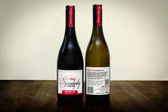Serendipity Vineyard wine label design
