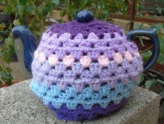 granny chic crochet tea cosy