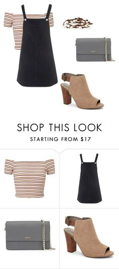 """""""Accented Neutral- color scheme"""" by parisgurl on Polyvore featuring Miss Selfridge, Topshop, DKNY, Tahari and Chan Luu"""