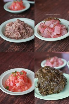 Traditional Hawaiian Food Looks like kalua pork, lomi salmon, lau lau and the other I'm not sure. Easy Delicious Recipes, Yummy Food, Traditional Hawaiian Food, Luau Food, Plate Lunch, Polynesian Food, Island Food, Soul Food, Cooking Recipes