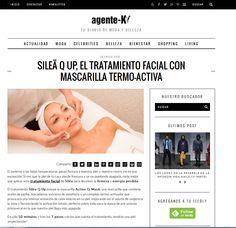 @agente-k recomienda nuestro Tratamiento Silea Q Up con la nueva mascarilla de calor.  #sileacosmetics #prensa #media #novedades #mascarilla #termoactiva