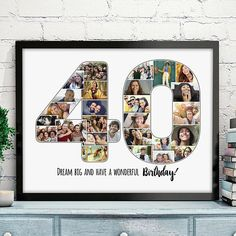 40th Birthday Collage, 40th Birthday Photo Collage, 40 Photo Collage, 40th Birthday Personalized, Custom Anniversary Date, Custom Collage This item is a DIGITAL download item, NO PHYSICAL item will be shipped to your address. -------------------------------------------------- HOW