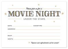 Printable: Outdoor Movie Night Invitations
