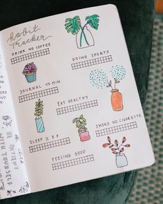 Bullet journal monthly habit tracker. | @thejournalgarden