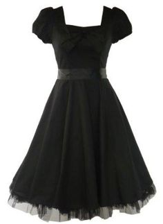 I found '50's Vintage Tea Prom Dress Plain Black' on Wish, check it out!