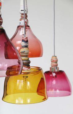 Glazen lampen / Pia Wüstenberg