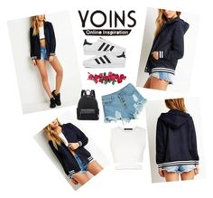 """""""yoins"""" by nylover-998 ❤ liked on Polyvore featuring moda, WithChic, BCBGMAXAZRIA, adidas y yoins"""