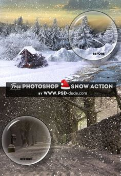Create Snow Effect Photoshop Free Action | PSDDude