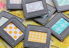 DIY Magnete (aus Diarahmen & hübschem Stoff) |