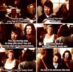 Call The Midwife. Bravo Cynthia! That awesome moment she stands up and a Says something... I woulda punched him...