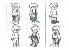 Verkleden als clown - logisch ordenen Gradatie: aantal prentjes kiezen ahv de leeftijd van de kleuters