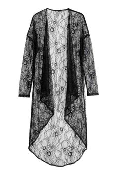 Designer Clothes, Shoes & Bags for Women Kimono Shrug, Chiffon Kimono, Lace Kimono, Ethnic Fashion, Hijab Fashion, Fashion Dresses, Looks Hippie, Mode Abaya, Abaya Designs