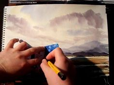 """Sail Away"" Part 3 Watercolour Landscape Painting Demonstration - YouTube"