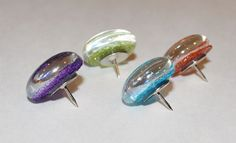 Glitter Thumbtacks.... repinning not because i like but, who in the hell has enough time and abs nothing else to do that they need to make decorative thumb tacks.... I would like to meet these people and give them a list lol