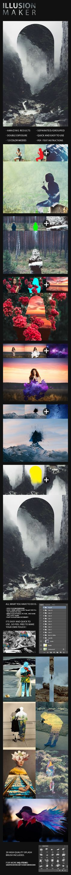 Illusion Photoshop Action #photoeffect Download: http://graphicriver.net/item/illusion-action/12146197?ref=ksioks