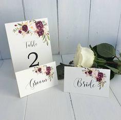 Hochzeit Tischkarten Marsala Hochzeit Tischkarten Burgund