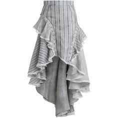 ZIMMERMANN Cavalier Antique Skirt (3.525 RON) ❤ liked on Polyvore featuring skirts, bottoms, zimmermann, zimmermann skirt, striped skirt, high-low skirt, striped high low skirt and lined skirt