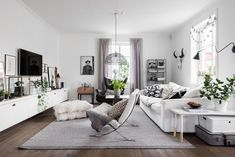 Gravity Home : Best of Living Rooms Here are my favourites. Living Room Grey, Home Living Room, Living Room Decor, Room Interior, Interior Design Living Room, Living Room Designs, Design Interior, Interior Designing, Deco Studio