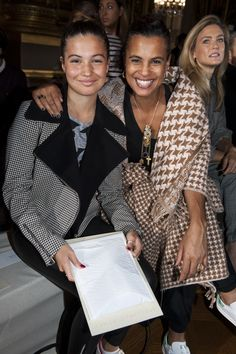 Neneh Cherry in our Autumn star print knit jacket with daughter Mabel McVey wearing our grey check print jacket from the Stella McCartney Autumn collection. Photo by Greg Kessler. Neneh Cherry, Jorja Smith, Mixed Race, Interracial Couples, Brunette Beauty, Check Printing, Queen B, Stella Mccartney Adidas, Fashion Seasons