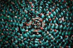 The human tower competition - Catalonia, Spai
