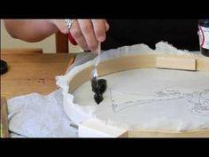 How to Silkscreen a T-Shirt : Inking the Screen for Silkscreening T-Shirts