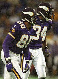 Best Viking Receiver duo, #80 Chris Carter, #84 Randy Moss