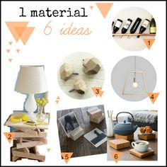 1 material - 6 ideas {madera}   Preguntitas
