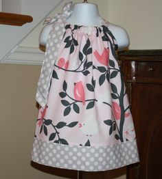 baby birds Easter Pillowcase dress michael by BlakeandBailey, $19.99