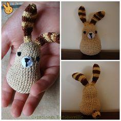 Conejo Pascua Chocolate Tapa Naranja Tejer patrón y lana para hacer su propio