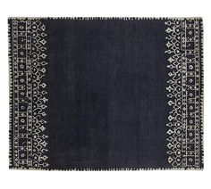 Desa Bordered Wool Rug, 8 x Indigo Carpet Sale, Wool Carpet, Rugs On Carpet, Cheap Carpet, Carpets, Blue Pottery, Pottery Barn, Wool Area Rugs, Blue Area Rugs