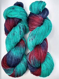Melba- Hand dyed yarn, sock weight, Superwash Merino, 463 yards