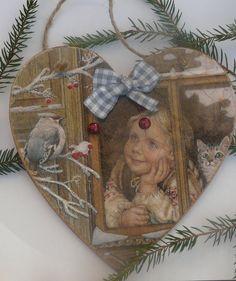 Zimowe serduszko Vintage - EskiFloreski - Dekoracje bożonarodzeniowe