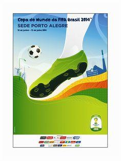 108b4f2e7e Poster Copa do Mundo Brasil FIFA 2014 cidade sede Porto Alegre