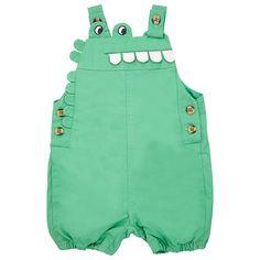 Buy John Lewis Crocodile Dungarees, Green, Newborn Online at johnlewis.com