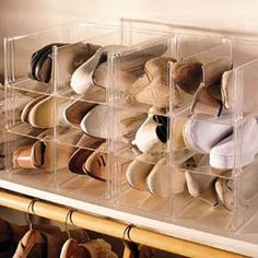 Clear Stacking Shoe Storage Bins, Shoe Organizer, Shoe Eze™ | Solutions