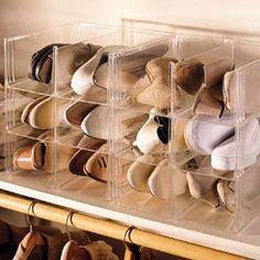 Clear Stacking Shoe Storage Bins, Shoe Organizer, Shoe-eze™   Solutions